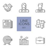 Business Related Vector Line Icons Set royalty free illustration