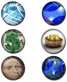Business related Web Buttons. Business and money related Web Buttons Royalty Free Stock Images
