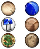 Business related Web Buttons. Multiple Business related Web Buttons Stock Photos
