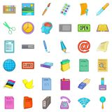 Business relationship icons set, cartoon style. Business relationship icons set. Cartoon set of 36 business relationship vector icons for web isolated on white Royalty Free Stock Photography