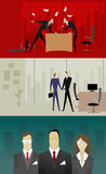 Business relationship illustrations Stock Photo