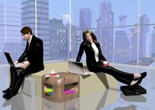 Business relaxing room Royalty Free Stock Images