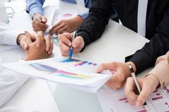 Business report Stock Image