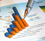 Business report. Business figures in the report