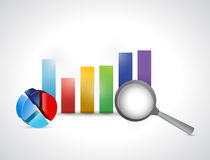Business report business graph. Illustration design over a white background Stock Photography