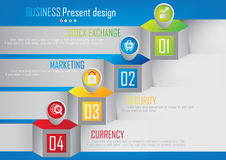Business report cover abstract design Royalty Free Stock Images