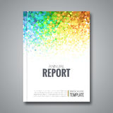 Business Report Design Background with Colorful Dots, simulating Watercolor. Dotwork Brochure Cover Magazine Flyer. Template, vector illustration Royalty Free Stock Photo