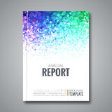 Business report design background with colorful Royalty Free Stock Image