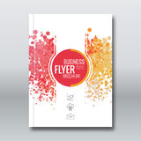 Business report design, flyer template, background with colorful dots.. Brochure Cover template mockup layout, vector illustration Royalty Free Stock Images