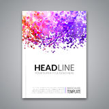 Business report design, flyer template, background with colorful dots. Brochure Cover template mockup layout, vector. Illustration Royalty Free Stock Image