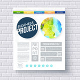 Business report ecological project template Royalty Free Stock Image
