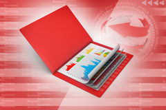 Business report in file. In attractive colour background Royalty Free Stock Image