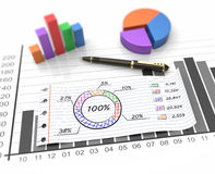 Business report. Financial business chart and economic development Stock Photo