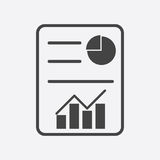 Business report. Flat vector illustration. Pictogram Royalty Free Stock Photo