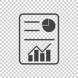 Business report. Flat vector illustration. Simple pictogram Stock Image