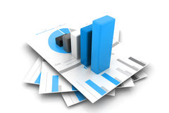 Business report and graph Royalty Free Stock Image