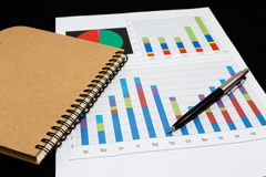 Business report  graph Royalty Free Stock Photo