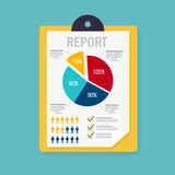 Business report with graphic and management diagram. Document wi. Th chart symbol Stock Photography