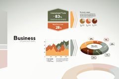Business report graphics - graphs and statistics Stock Photo