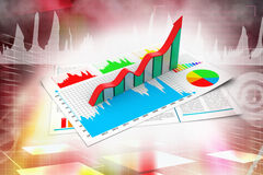 Business report and growth graph Stock Photo