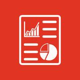 The business report icon. Audit and analysis, document, plan symbol. Flat Royalty Free Stock Image