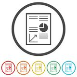 Business Report icon, business graph and documents. Simple  icons set Royalty Free Stock Image