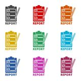 Business Report icon, color icons set. Simple vector icon Stock Photo