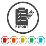 Business Report icon, 6 Colors Included. Simple vector icons set Royalty Free Stock Image