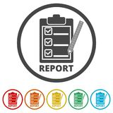 Business Report icon, 6 Colors Included. Simple vector icons set Royalty Free Stock Photo