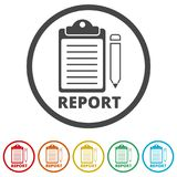 Business Report icon, 6 Colors Included. Simple vector icons set Royalty Free Stock Images
