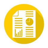 Business report icon with long shadow. Icon Stock Photography