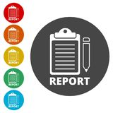 Business Report icon, simple. Icons set Royalty Free Stock Photos