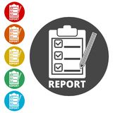 Business Report icon, simple. Icons set Royalty Free Stock Photo