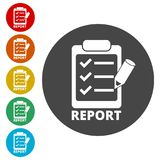 Business Report icon, simple vector. Icons set Royalty Free Stock Photos
