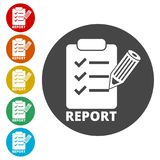Business Report icon, simple vector. Icons set Stock Image