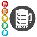 Business Report icon, simple vector. Icons set Royalty Free Stock Images