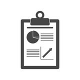 Business Report icon. Vector icon Royalty Free Stock Images