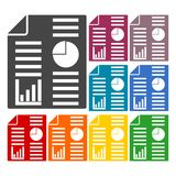 Business report icons set Royalty Free Stock Photography