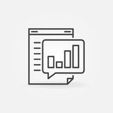 Business report line icon Royalty Free Stock Images
