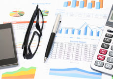 Business report and pencils Royalty Free Stock Images