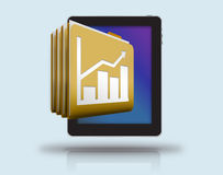 Business reports and cloud storage Royalty Free Stock Photo