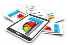 Business reports graph. 3d illustration of Business reports graph Stock Photo