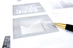 Business reports monitoring Royalty Free Stock Photos