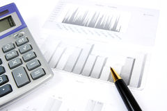 Business reports monitoring stock photo