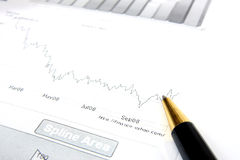 Business reports monitoring Royalty Free Stock Photo