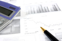 Business reports monitoring Stock Photos