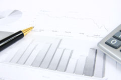 Business reports monitoring Stock Image