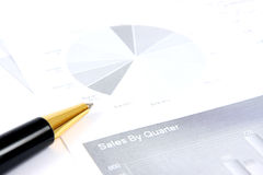 Business reports monitoring Stock Images