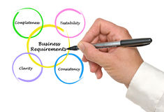 Business Requirements. Presenting diagram of Business Requirements royalty free stock photo