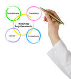 Business Requirements. Presenting diagram of Business Requirements stock image